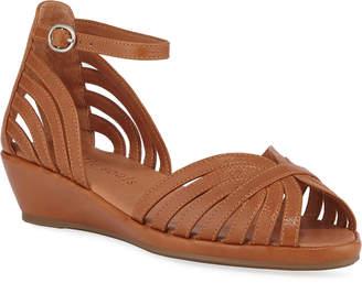 Gentle Souls Leah Leather Demi-Wedge Sandals, Medium Brown