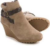 White Mountain Isabella Wedge Ankle Boots - Suede (For Women)