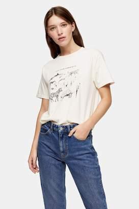 Topshop CONSIDERED Ecru Organic Cotton Love Your Kind T-Shirt