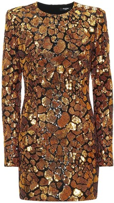 Balmain Sequined minidress