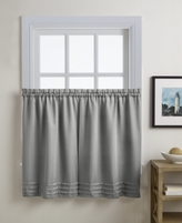"CHF Addison 56"" x 36"" Pair of Tier Curtains"