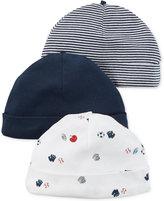 Carter's Baby Boys' 3-Pack Little All-Star Beanie Caps
