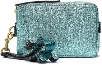 Anya Hindmarch Metallic Textured-leather Clutch
