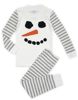 Sara's Prints Unisex Snowman Striped Pajama Set - Sizes 2-7