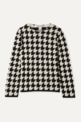 Comme des Garcons Houndstooth Wool Sweater - Black