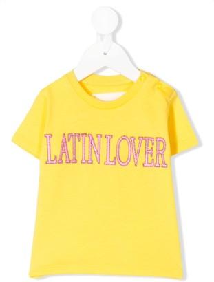 Alberta Ferretti Kids slogan embroidered T-shirt