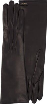 Miu Miu Stitching Detail Long Gloves