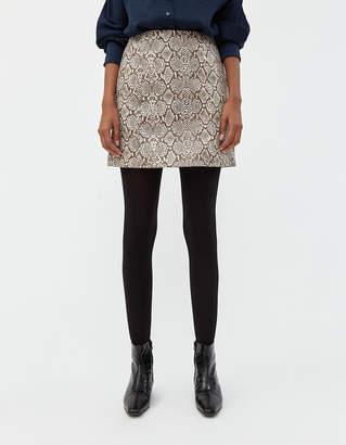 ALEXACHUNG Alexa Chung Snake Mini Skirt