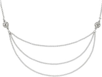 """Sterling Silver Layered-Look 18"""" Chain b y Silver Style"""
