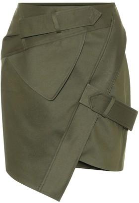 Alexandre Vauthier Cotton-blend twill miniskirt