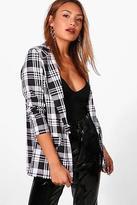 boohoo Womens Petra Check Woven Blazer
