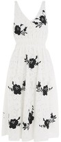 Topshop Embroidered Midi Prom Dress