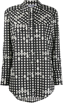 Courreges Logo-Print Checkered Shirt