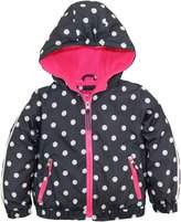 Pink Platinum Little Girls Polka Dot Active Hooded Jacket Spring Coat