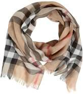Burberry Check Wool & Silk Blend Garza Scarf
