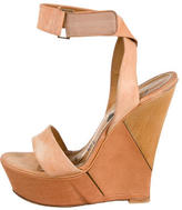 Lanvin Leather Multistrap Wedges