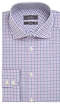 John Lewis Non Iron Cotton Tailored Fit Check Shirt, Blue/pink
