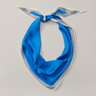 Love & Lore Love And Lore Diamond Border Neckerchief Blue