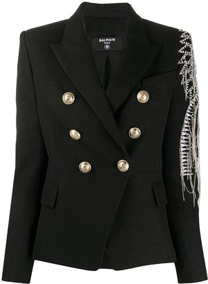 Balmain Embellished Double-Breasted Blazer