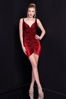 Terani Couture 1722H4613 Fitted Velvet Short Dress