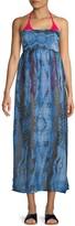 Rachel Roy Smocked Tie-Dye Strapless Cover-Up