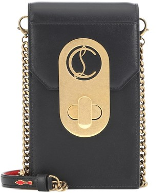 Christian Louboutin Elisa leather phone pouch leather crossbody bag