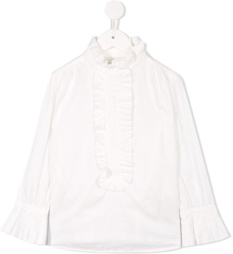 Go To Hollywood Ruffle Trim Blouse