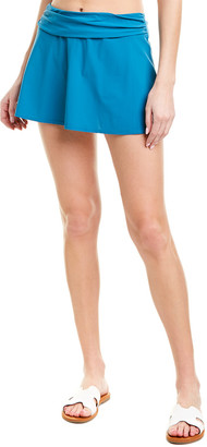 Karla Colletto Banded A-Line Skirt