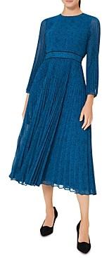 Hobbs London Isabella Printed Pleated Dress