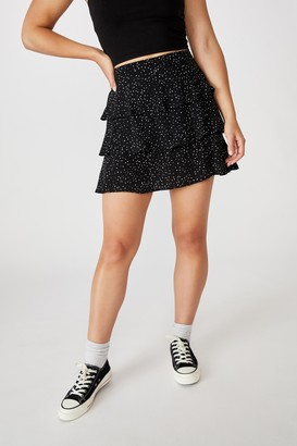 Cotton On Byron Tiered Mini Skirt