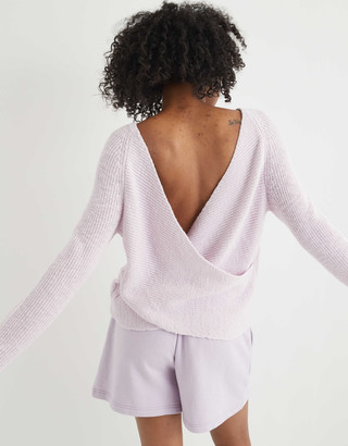 aerie Wrap Back Sweater