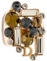 Christian Dior Crystal Cluster Ring
