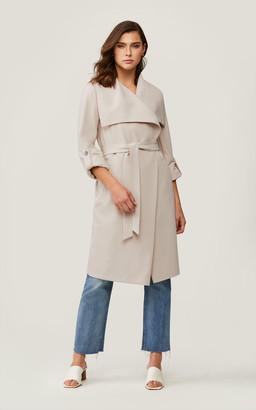 Soia & Kyo ORNELLA knee-length coat with cascade draped collar