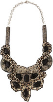 Deepa Gurnani Black Crystal Bib Necklace