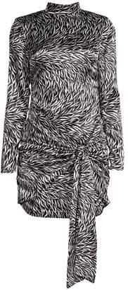 LIKELY Khaleesi Metallic Print Tie-Waist Sheath Dress