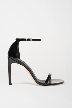 Stuart Weitzman Nudistsong Patent-leather Sandals - Black
