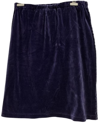 Sonia Rykiel Navy Cotton Skirt for Women