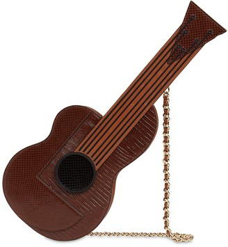 Moschino GUITAR LEATHER SHOULDER BAG