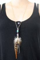 Heather Gardner Feather & Tusk Turquoise Necklace in Gold