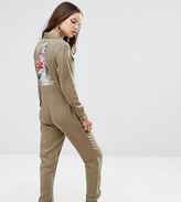 Glamorous Petite Embroidered Boilersuit