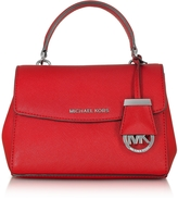 Michael Kors Ava Bright Red Saffiano Leather XS Crossbody Bag