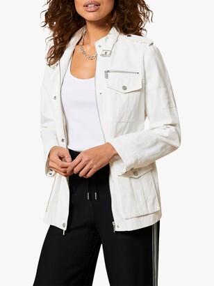 Mint Velvet Utility Jacket, White