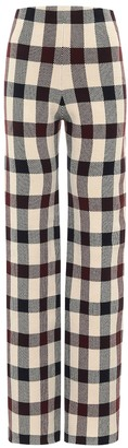 Victoria Victoria Beckham Checked high rise pants