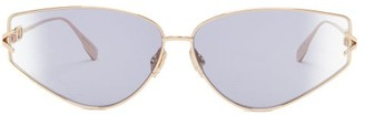 Christian Dior Diorgypsy2 Small Cat-eye Metal Sunglasses - Blue