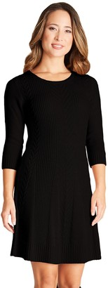Iz Byer Juniors' Fit & Flair Cable Sweater Dress