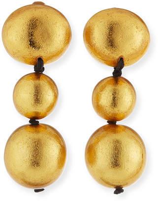 Viktoria Hayman Triple-Drop Clip-On Earrings