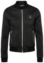 Dolce & Gabbana Black Quilted Satin Bomber Jacket