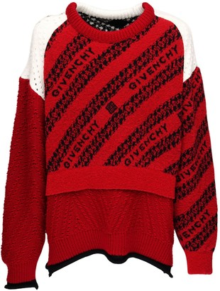 Givenchy Oversize Wool Blend Jacquard Sweater