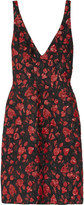 Hearts and Lips textured-brocade dress