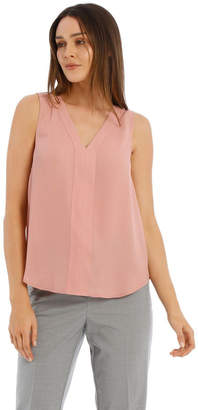 Basque Sleeveless Panel Front Top